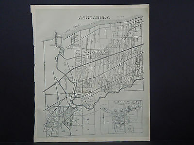 Ohio, Ashtabula County Map, 1905 Township of Ashtabula #01