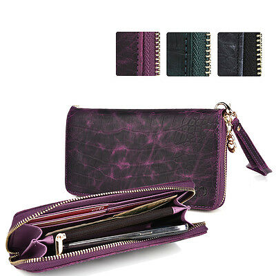 Slim Croc Smartphone Wallet Case & Wristlet Card Holder ESXLZP9