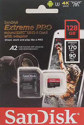 SanDisk 128GB Extreme PRO Micro SDXC Memory Card DJI Drone Action Camera 170MB/s