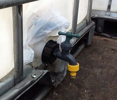 Ibc Stillage Tank Broken Tap Dn 80 S100 X 8 Replacement Water Hose Pipe Fitting