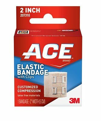 ACE Elastic Bandage with Clips, 2 Inches, 1 Each