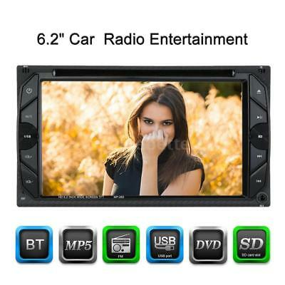 """Double 2 DIN 6.2"""" HD Car Stereo DVD Player Bluetooth FM Radio USB/SD Aux In D7Y8"""