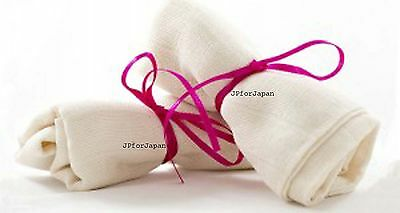 2 x Organic Cotton Muslin Face Cloth SKIN gentle exfoliation Make up Remover UK