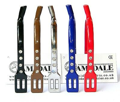 Horse Riding Blunt Spurs Crystal Stainless Steel Beautiful Colors From Amidale