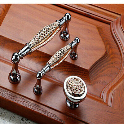 Set Of 12 Antique Drawer Wardrobe Kitchen Cupboard Cabinet Door Handles & Screws