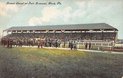 York Pennsylvania Grand Stand Fair Grounds Antique Postcard K10257