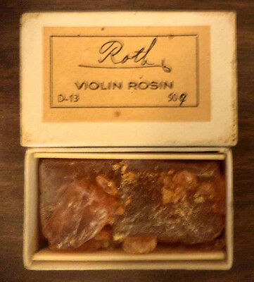 Vintage Box Of Roth Violin Rosin String Bow Care Classical Music Instrument Arts