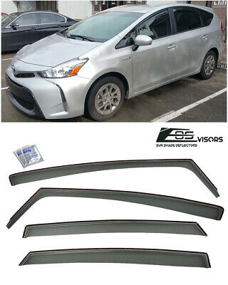 For 11-Up Toyota Prius V In-Channel Side Window Visors Rain Guards Deflectors