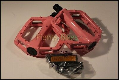 "BMX FIXIE PLATFORM PEDALS VP Alloy Pedals 1//2/""  red with reflectors"