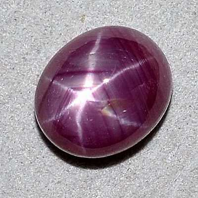 CERTIFIED 2.74 Cts Perfect Star! African Star Ruby Oval Cabochon