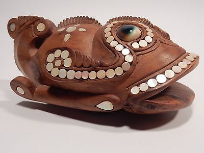 Massim Trobriand Island Carved Wooden Fish Papua New Guinea