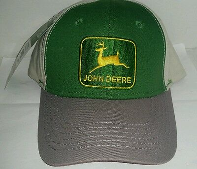 JOHN DEERE 3 COLOR THROWBACK LOGO MESH Trucker Hat Cap BRAND NEW LICENSED NICE