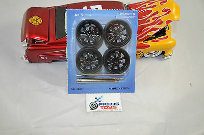 1:24 scale BK Star Rims and Tyre set ( 4 pcs ) suitable for 1:24 model car