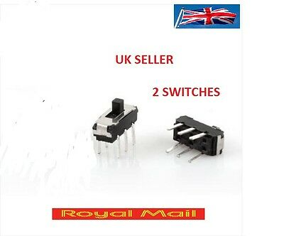 ON 0FF ON DPDT 2P2T 6 Pin Vertical DIP Slide Switch 9x4x3.5mm DC 50V 1A X2  #S56