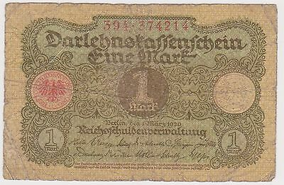 (TIE-35) 1920 Germany 1 Mark Bank note