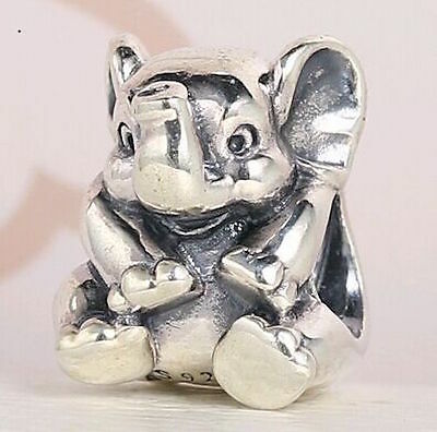 ELEPHANT 925 Sterling Silver Solid Charm Bead for Bracelet