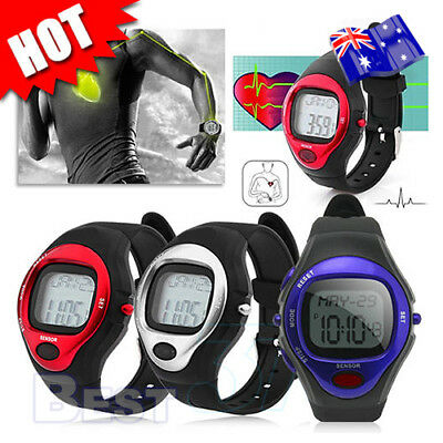 Heart Rate Watch Fitness Sports Exercise Calorie Counter Pulse Monitor AU STOCK