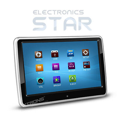 "XTRONS HD101T Slim 10"" Touch Screen Car DVD Player Headrest Monitor USB SD Game"
