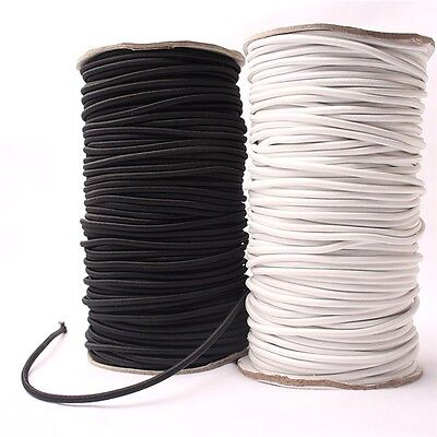 10M*4mm White Strong Elastic Bungee Rope Shock Cord Tie Down DIY Jewelry Making