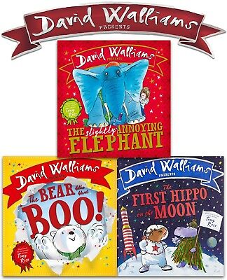 David Walliams Children Board Book Collection 3 Books Set Pack Bear Who Went Boo