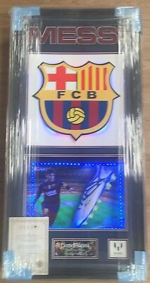 Framed Lionel Messi Signed Barcelona Argentina Boot Rare COA Light Up Frame