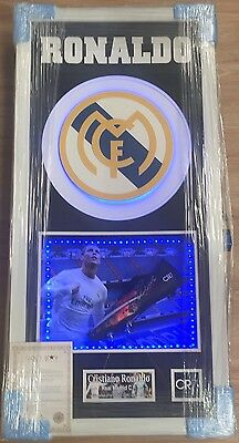 Framed Cristiano Ronaldo Signed Nike Boot Real Madrid Portugal Rare COA Light Up