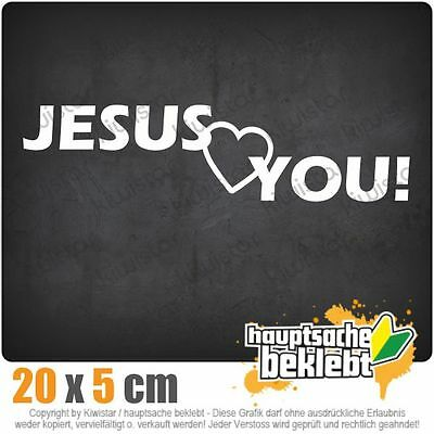 JESUS LOVES YOU everyone else thinks your a dick sticker 150mm