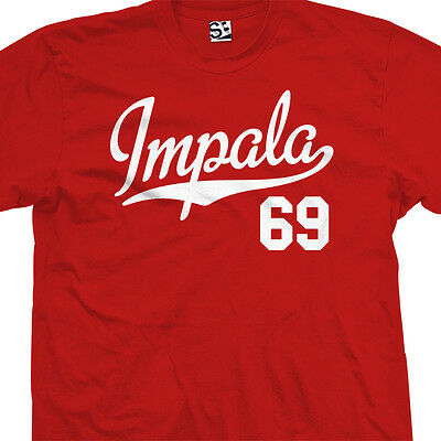 Impala 69 Script Tail Shirt - 1969 Lowrider Classic Car - All Sizes & Colors