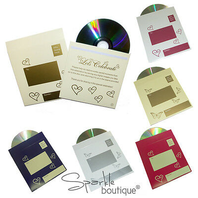 Photo CDs & Sleeve for Wedding or Party Table -Alternative to Disposable Cameras