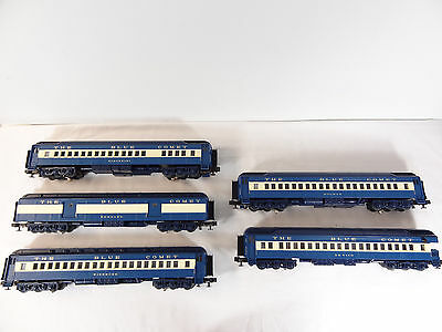 MTH O Scale Jersey Central Blue Comet Scale Madison 5 Car Passenger Set 20-4021