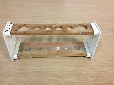 Joblot of 10 Test Tube Racks. 10 X Wooden test tube racks Laboratory equipment