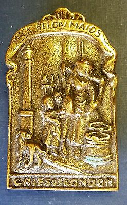 "Cries Of London Brass Door Knocker - ""Maids Below Milking"""