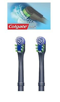 Colgate 360 Floss Tip Bristles Battery Toothbrush Replacement Heads (Pack of 2)