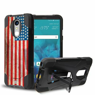 FOR LG G Vista Puerto Rico Flag Hybrid Design Case w/ Stand