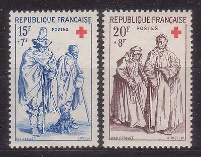 France 1957 Red Cross Mnh