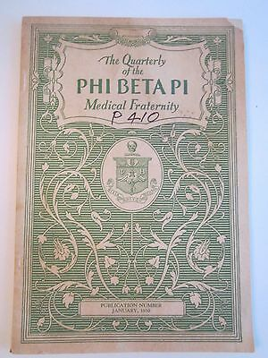 1930 Phi Beta Pi Medical Fraternity Quarterly Booklet - Nice Condition - Tub Qqq
