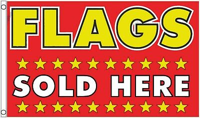 Flags Sold Here Gift Shop Sign Advertising POS 5'x3' Flag - LAST FEW