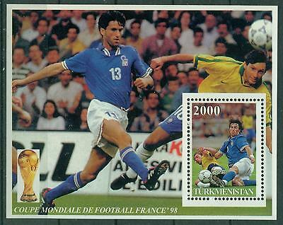 Turkmenistan 1998 France 98 Football Soccer World Cup S/s Mnh M14239
