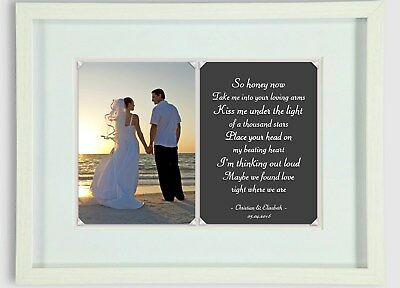 Personalised PHOTO Song Lyric Print WEDDING FIRST DANCE ENGAGEMENT - GIFT IDEA