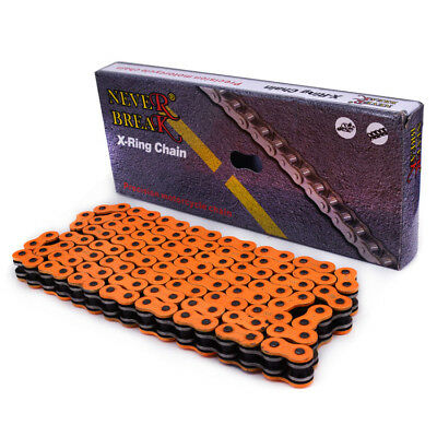 520 O Ring Seal Chain 120 Link For KTM EXC EXCF XC XCF XCW SX SXF SMR LC4 Orange