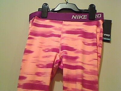 Nike Girls Dri Fit Pro Compression All Over Graphic Capris Tights Save 30%!!  XL