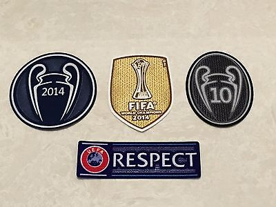 2014 UCL UEFA FIFA World Champions League 10 Trophy Patch Badge For Real Madrid