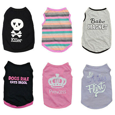 Summer Clothes Small Dog Cat Puppy Vest T-Shirt Coat Pet Apparel Costumes
