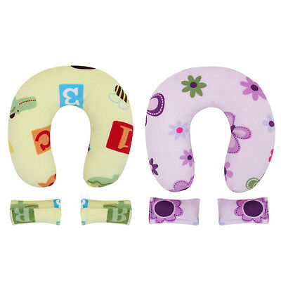 Baby U-shape Pillow Neck Protector Car Seat Travel Neck Support Plush Toy Pillow