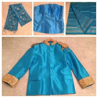 Khmer Cambodia Traditional Wedding Outfit Snd Groom Jacket Suit
