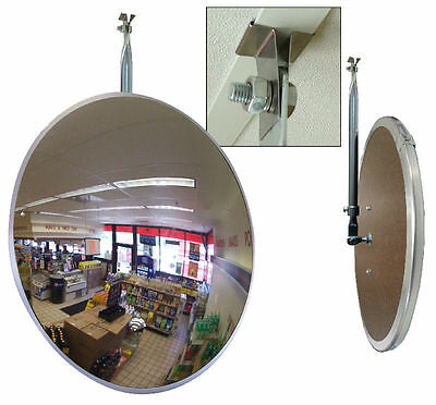 "18"" Acrylic Safety & Security Convex Mirror with Drop Ceiling T Bar Attachment"