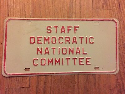1972 Democratic National Convention DNC STAFF License Plate COMMITTEE