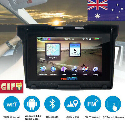 "5.0"" Inch Motorcycle Car Bike GPS Navigation SAT NAV 8GB 256M Waterproof Maps AU"