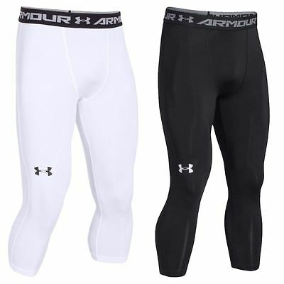 Under Armour 2016 HeatGear Armour Compression ¾ Sports Leggings Mens Base Layer