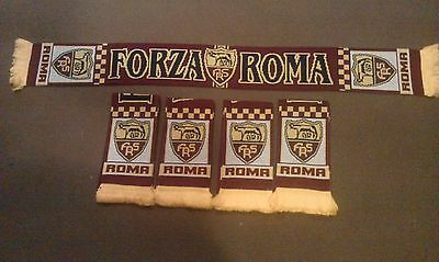 AS ROMA FC Acrylic knitted Soccer Scarf IN STOCK NOW IN STOCK NOW